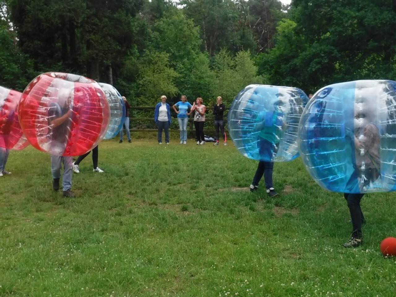 Bubble voetbal momenteel niet te boeken